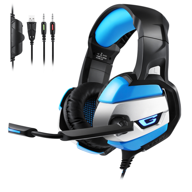 K5 Gaming Headset Gaming Accessories Surround Sound Noise Canceling